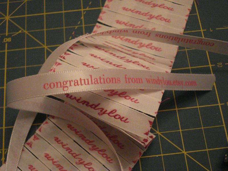 Labels and ribbon