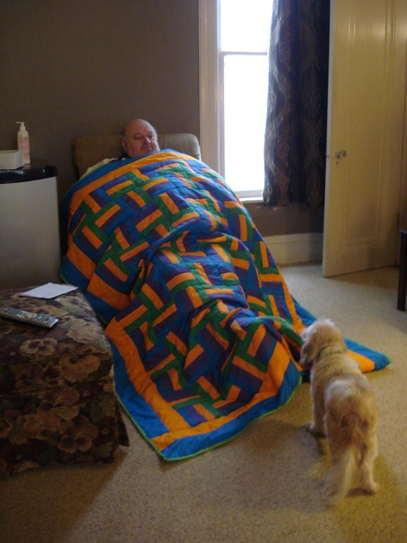 Dad w michaels quilt