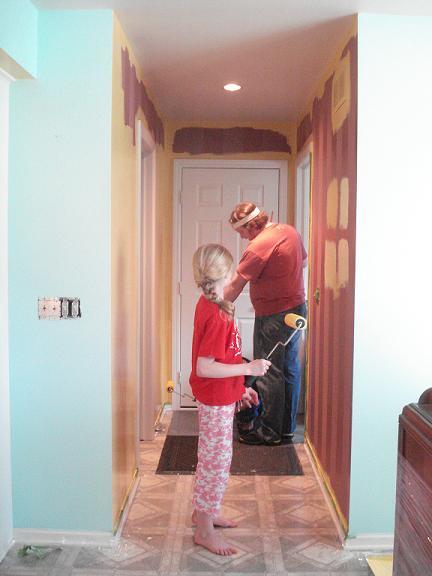 Hallway mid paint