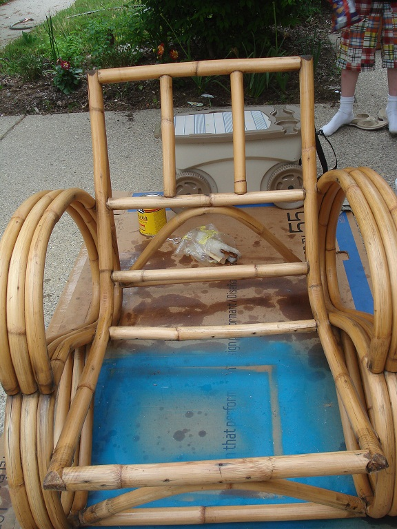 Rattan stained